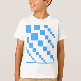 T-shirt Motif descendant audacieux de bloc de queue de