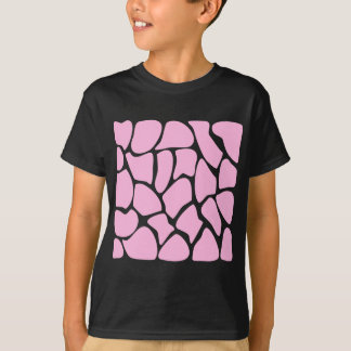 T-shirt Motif d'impression de girafe dans le rose de