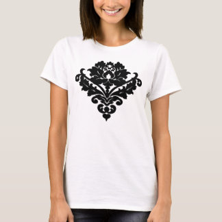 T-shirt Motif élégant et chic de damassé de victorian dans