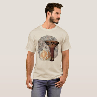 T-shirt Motif floral bronzage