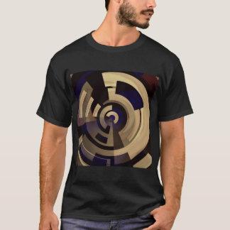 T-shirt Motif graphique bronzage noir d'or