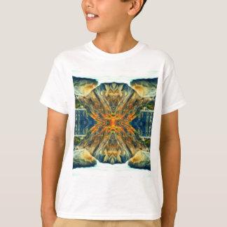 T-shirt Motif psychédélique de peinture de chaîne de