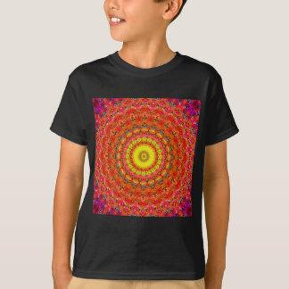 T-shirt Motif radial psychédélique :