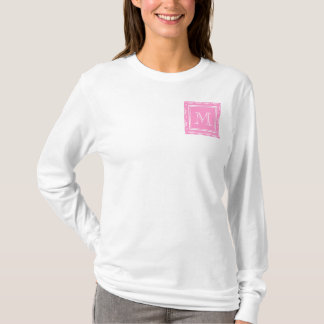 T-shirt Motif rose 1 de damassé avec le monogramme
