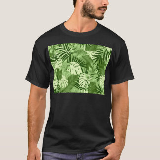 T-shirt Motif tropical vert de feuille