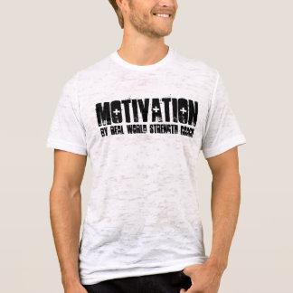 T-shirt Motivation, en l'entraîneur de force de monde réel