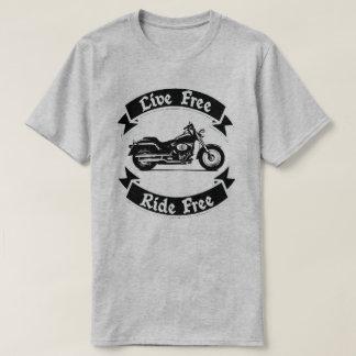 T-shirt Moto libre de silhouette de tour gratuit vivant
