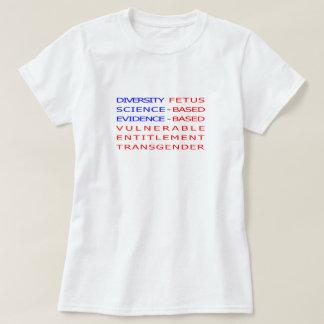 T-shirt Mots interdits par CDC américains de drapeau