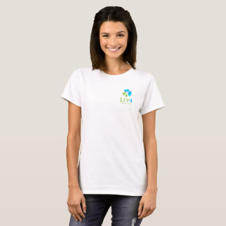 T-shirt mou de la signature des femmes - logo de