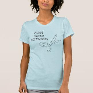 T-shirt Mouches avec des ciseaux