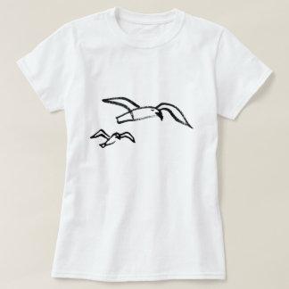 T-shirt Mouette tirée par la main