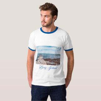 T-shirt Mouettes volant au-dessus de la baie