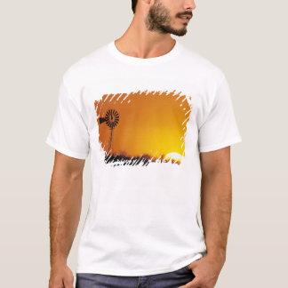 T-shirt Moulin à vent au coucher du soleil, Sinton, le