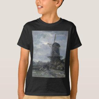 T-shirt Moulin à vent néerlandais dans le clair de lune