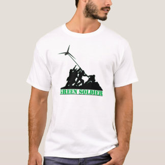 T-shirt Moulin à vent vert de soldat