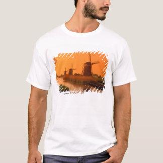 T-shirt Moulins à vent au coucher du soleil, Leidschendam,