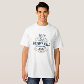 T-shirt Moulins de Wilsons, N Caroline 150th Ann. White