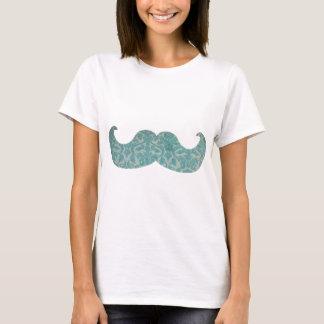 T-shirt Moustache bleue - damassé vintage