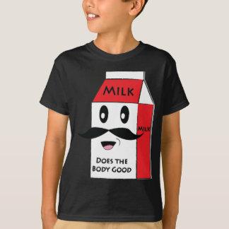 T-shirt Moustache de lait