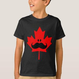 T-shirt Moustache du Canada - une moustache sur l'érable