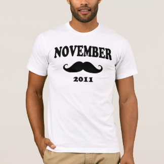 T-shirt Moustache en novembre 2011