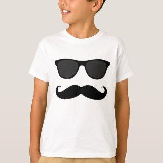 T-shirt Moustache et cadeau noirs d'humeur de lunettes de
