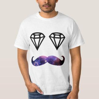 T-shirt Moustache et diamants