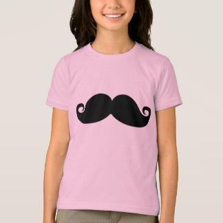 T-shirt Moustache noire vintage drôle