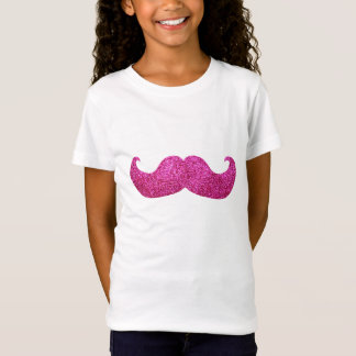 T-Shirt Moustache rose de Bling (graphique de