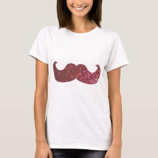 T-shirt Moustache rose de Bling (graphique de parties