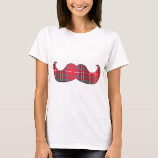 T-shirt Moustache rouge de tartan