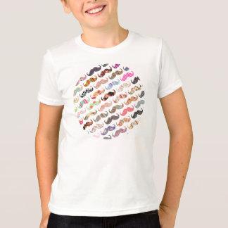 T-shirt Moustaches colorées Girly drôles de motifs