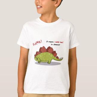 T-shirt Moyens de Rawr je t'aime dans le Stegosaurus de