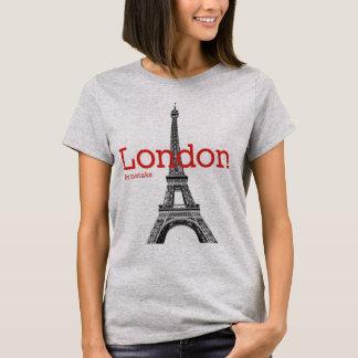 T-shirt Mstake de Londres et de Tour Eiffel