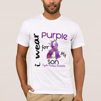 T-shirt Mucoviscidose je porte le pourpre pour mon fils 43