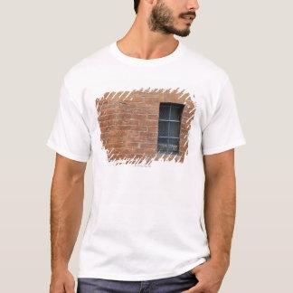 T-shirt Mur de briques avec un motif typique. Le mur était