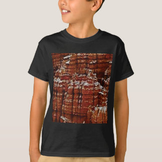 T-shirt mur de roche de forme de forme d'érosion