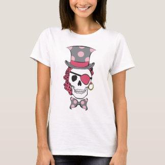 T-shirt Mûre de crâne de pirate de marié