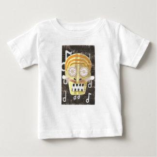 T-shirt musical de bébé de crâne