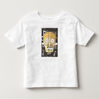 T-shirt musical d'enfant en bas âge de crâne