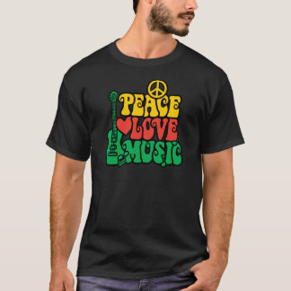 T-shirt Musique d'amour de paix de reggae