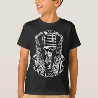 T-shirt Musique de microphone de saxo de saxophone de ~ de