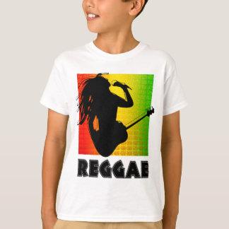 T-shirt Musique Rasta Rastaman de reggae chantant jouant