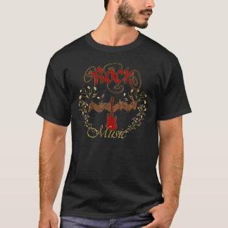 T-shirt Musique rock électrique en rouge et or