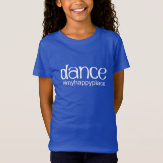 T-Shirt #myhappyplace de danse - royal