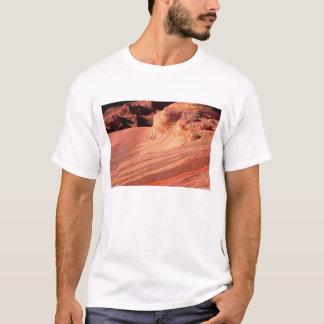 T-shirt Na, Etats-Unis, Utah, falaises vermeilles. Butte