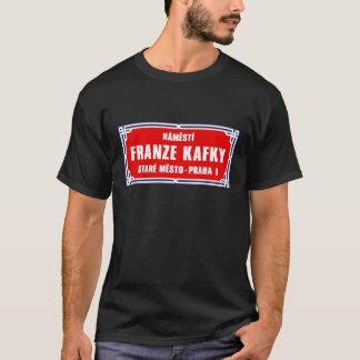 T-shirt Námestí Franze Kafky, Prague, plaque de rue