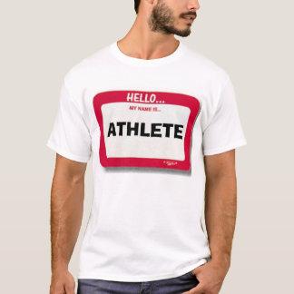 T-shirt Nametag d'athlète