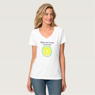 T-shirt nano de V-Cou de Hanes des femmes