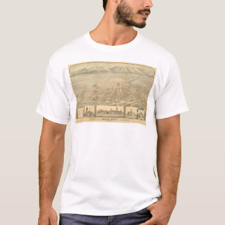 T-shirt Napa, carte panoramique de CA (0684A)